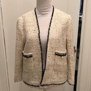 Zara tweed and sequin jacket